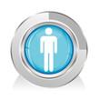 bouton symbole homme