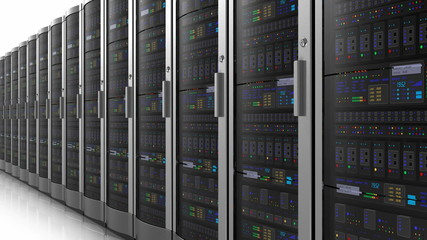 Row of network servers