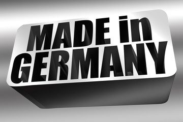 MADE in GERMANY 3D silber