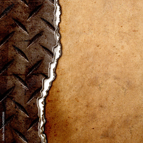 cracked diamond plate on grunge background
