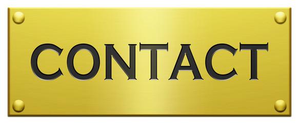 """""""Contact"""" Plaque Gravée"""