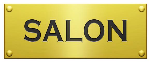 """""""Salon"""" Plaque Gravée"""