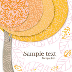 vector autumn invitation card