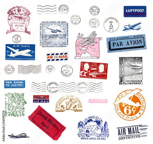 Poster Alte Poststempel
