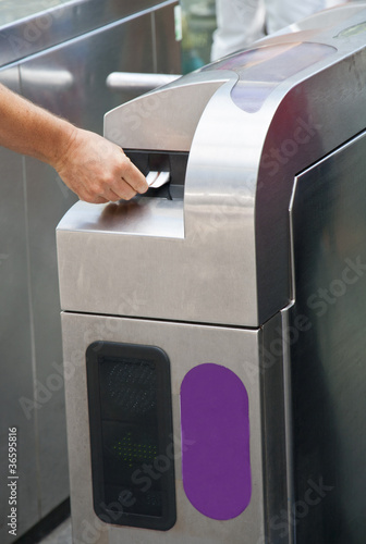 Ticket machine at metro station