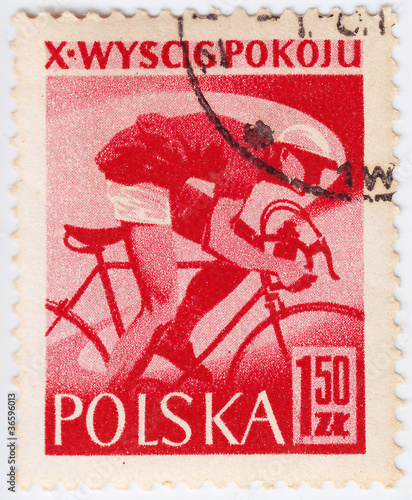 Poland shows bicyclist