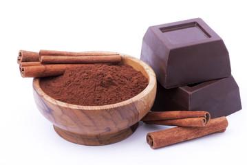 cioccolato fondente con cacao e cannella