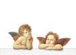 canvas print picture - zwei Engel