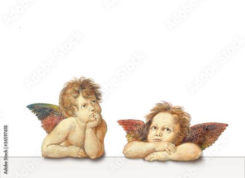 Leinwandbild Motiv zwei Engel