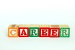 The word career in alphabet blocks