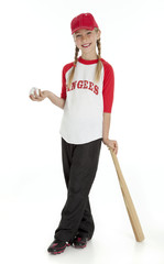 Pretty Little Baseball Girl