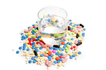 Medical concept created by pills .