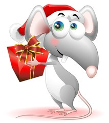Topo Topolino Babbo Natale-Mouse Santa Claus Cartoon Comics