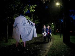Flasher at night