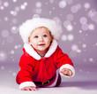 Christmas baby crawling