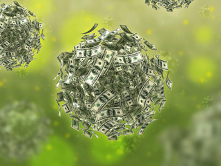Money virus (business concept)