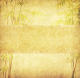 Fototapety design of chinese bamboo trees with texture of handmade paper