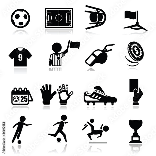 Icons set Soccer