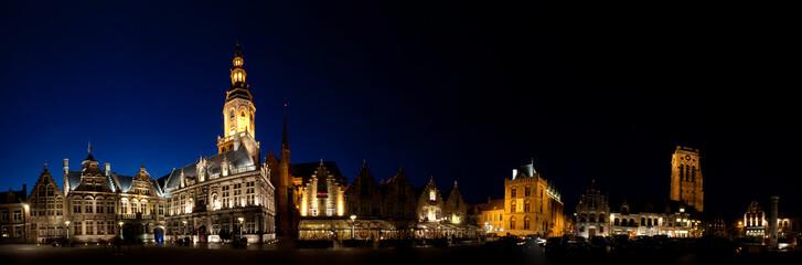 Night European city
