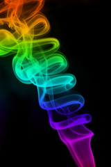 Flowing colourful smoke.