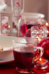 Tea on decorated table