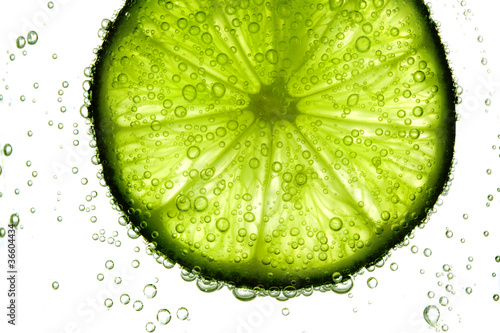 Poster lime slice in water