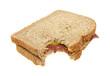 Corned beef sandwich bitten