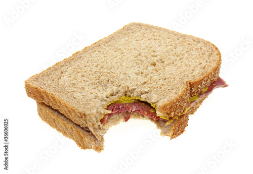Corned beef sandwich bitten
