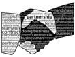 """PARTNERSHIP"" Tag Cloud (handshake business contract teamwork)"