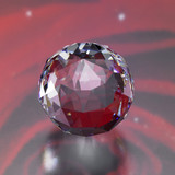 twinkling diamond sphere in red back poster