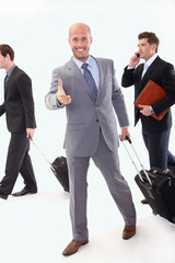 Business people with luggage bags