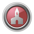 """Red 3D Style Button """"Chapel"""""""