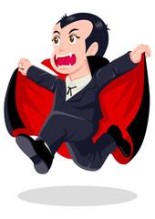 Cartoon illustration of Dracula