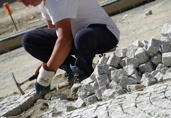 ouvrier au chantier