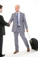 Businessman with hand luggage