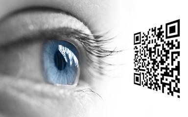 Oeil et code QR
