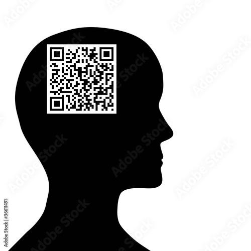 Code QR dans un cerveau