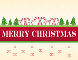 xmas banner, with merry christmas text