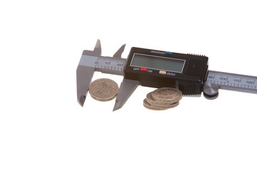 coins and calipers
