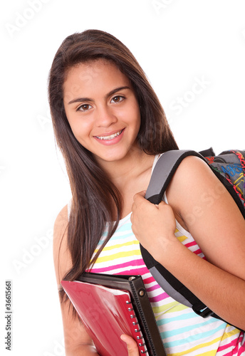 woman with bag and folders