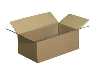 opened brown carton