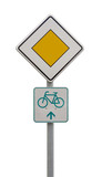 priority road sign poster