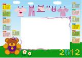calendario base femminuccia 2012 orizzontale