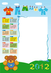 calendario base maschietto 2012 verticale