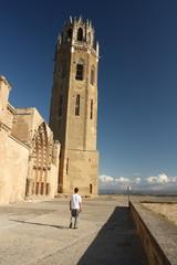 tower of La Seu Vella Cathedral in Lleida
