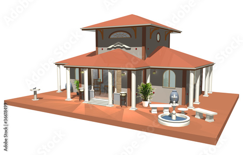 Modern roman style houses