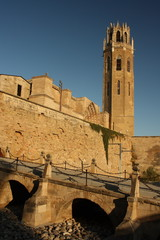drawbridge at La Seu Vella cathedral - Lleida