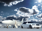 Fototapety plane and car