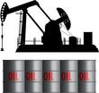 oil field and barrels - 36619684