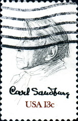 Carl Sandburg. US postage.